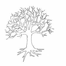 tree outline drawing best photos of simple tree outline tree