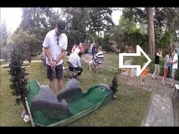 Backyard Golf Course by Cherie U0027s 40th Birthday Backyard Golf Course Youtube