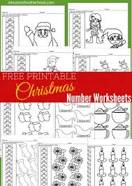 free printable christmas number counting worksheets 1 10