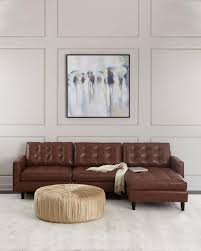 Tufted Sectional With Chaise Leather Tufted Chaise Sectional