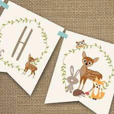 woodland baby shower woodland baby shower banner for a boy