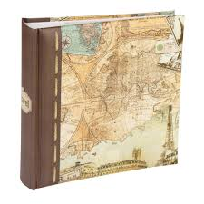 memo photo album series vintage map 6x4 slip in memo photo album 200 prints