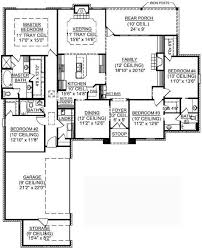 4 bedroom one house plans house plan 2224 kingstree floor plan traditional 1 12 4