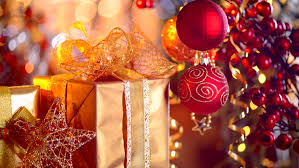 new year gifts christmas and new year gifts and decoration abstract blurred