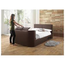 buy charlotte double gas lift tv bed frame brown from our small