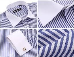 luxury french cuff button mens dress shirt 2016 new fashion non