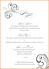 menu templates for weddings wedding menu templates 1280968880910 13670 png scope of work
