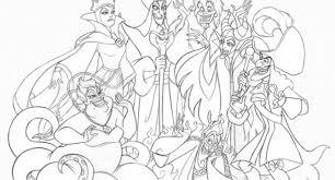 disney villains printable coloring pages free disney villains