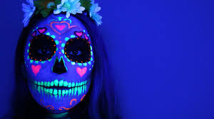 black light sugar skull tutorial youtube