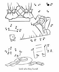 nursery rhyme dot to dot pages goldilocks and the three bears
