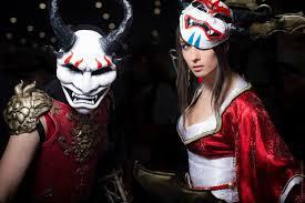 League Legends Halloween Costume League Legends Shen Akali Couple Cosplay Beaupeep101