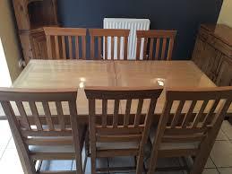 laura ashley u0027milton u0027 large extendable oak dining room table c w 8