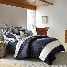 ed ellen degeneres bleu duvet cover in navy bed bath u0026 beyond