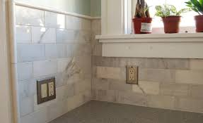Kitchen With Subway Tile Backsplash Ideas  SMITH Design - Home depot tile backsplash