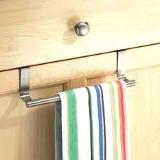 kitchen cabinet towel rail over the door towel hanger over cabinet door paper towel holder door