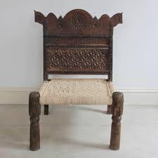 tribal wooden pida chair horse kasakosa home decor