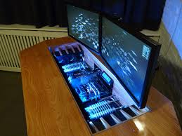 Computer In Desk Heavy Metal Computer Desk Hackaday