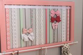 Shabby Chic Nursery Curtains by Hair Bow Holder Bow Organizer Coral Nursery Decor Shabby Chic