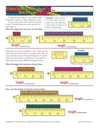 how to read a ruler metric measurement worksheets