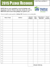 Pledge Sheets For Fundraising Template by Fundraising Donation Pledge Form Template Selimtd