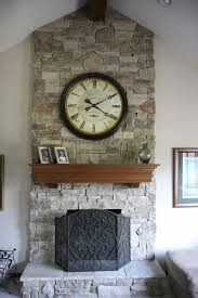 chic mantle clock in living room victorian with popular exterior