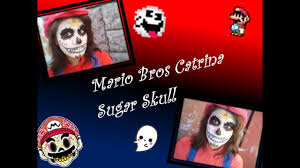 day of the dead makeup for halloween reupload mario bros sugar skull makeup halloween u0026 day of the