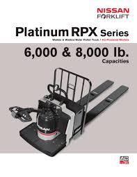 rpx walkie rider pallet truck nissan forklift pdf catalogue