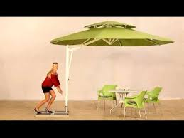 Side Patio Umbrella Caravita Belvedere Side Mast Patio Umbrella Youtube