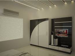 home interior wardrobe design modular 3 door wardrobe with dresser and mirror made up of plywood
