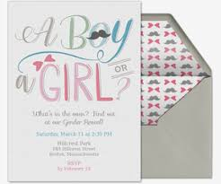 free gender reveal party online invitations evite com
