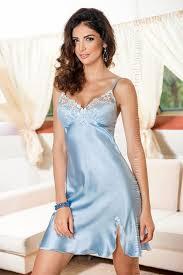 pale blue satin elegant nightdress linda by irall
