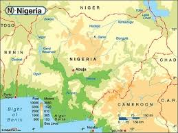 nigeria physical map physical maps of nigeria everything about nigeria maps facts