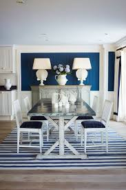 Blue  White Dining Room Dining Room Ideas Houseandgardencouk - Navy and white dining room