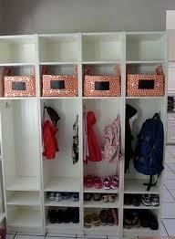 Ikea Foyer Ideas Ikea Billy Bookcase Mudroom Lockers Leanne Smetaniuk Kinda