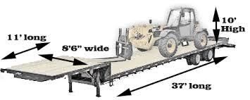 Interior Dimensions Of A 53 Trailer Tractor Trailer Dimensions Flatbed Dimensions