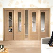Sliding Barn Doors With Glass by Easi Slide Op1 Oak Portici Sliding Door System With Clear Cut