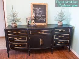 gold dresser black vintage dresser with gold leafing restoration redoux