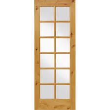 prehung interior doors home depot krosswood doors 36 in x 96 in knotty alder 12 lite low e