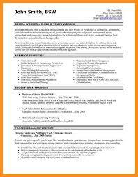 Resume For Social Workers 7 Cv For Social Worker Fillin Resume