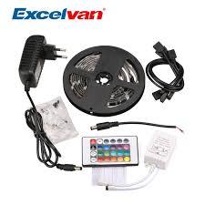 how to link led light strips excelvan 2m 75 leds 5050 smd led light strip kit waterproof led