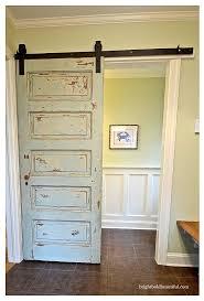 How To Make A Barn Door Track Door To Door 22 Awesome Door Upcycles Reuse Old Door As Barn