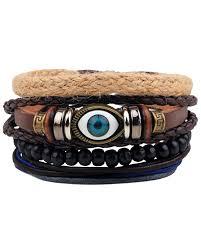 evil eye beads bracelet images Streetsoul bead evil eye multilayer leather beads stack of 4 pcs jpg
