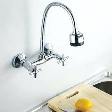 wall mount kitchen faucets with sprayer wall mount faucet awesome wall mount kitchen faucet and with