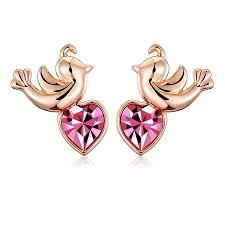 stud earrings for women women s fashion birds stud earrings gold