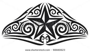 polynesian tribal star tattoo design by shutterstock tribal