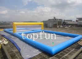 blue inflatable sports games water inflatable beach volleyball court