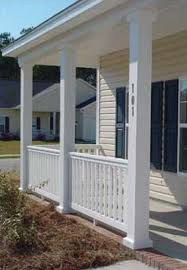 how to create a base for a porch column that is too short the