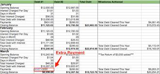 Excel Debt Payoff Template My Debt Repayment Spreadsheet My Alternate