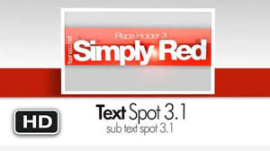 free adobe after effects template ae project simply red