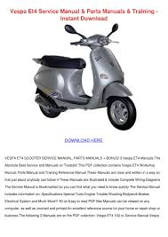 vespa et4 service manual parts manuals traini by sheryll dornak